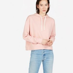 Everlane Classic French Terry Square Hoodie Pink